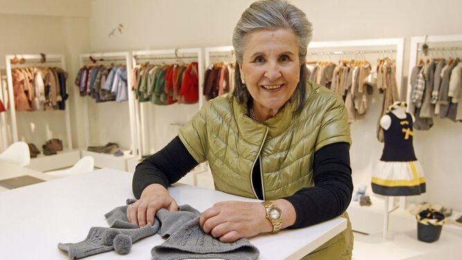 La diseñadora gallega Pili Carrera, en su taller.