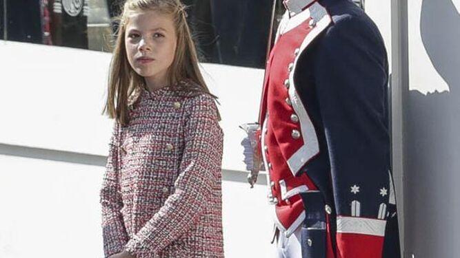 La infanta Sofía, el 12 de octubre.