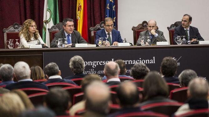 Inauguración por las autoridades y organizadores del Congreso en el Paraninfo de la Universidad de Sevilla.
