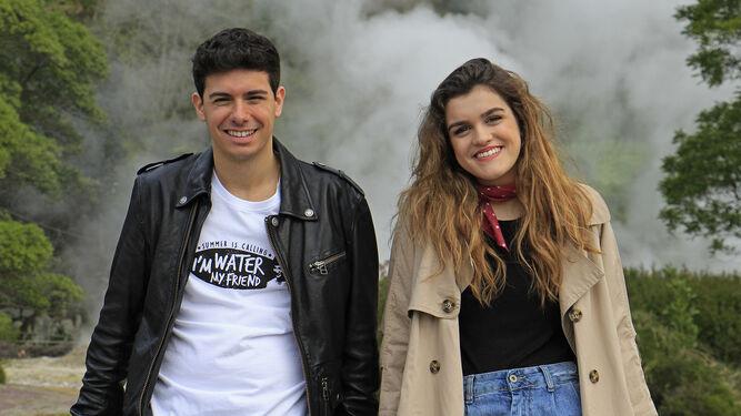 La pareja eurovisiva, en pleno enclave del Parque Natural Terranostra.