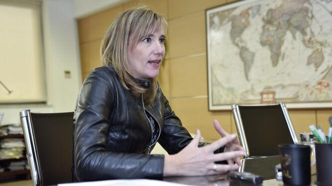 Vanessa Bernad, durante la entrevista, en su despacho en el Parque Tecnológico de la Cartuja.