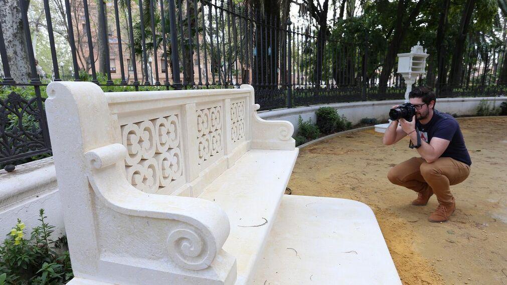 La restauración de la glorieta de Bécquer