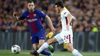 El FC Barcelona-Roma, en imágenes