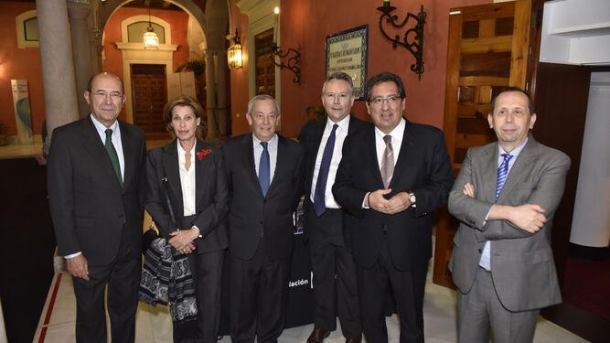 Francisco Ferraro, Gloria Barba, Carlos Solchaga, José Joly, presidente del Grupo Joly, Antonio Pulido y José Antonio Carrizosa.