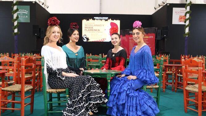 1. Jóvenes flamencas en el patio de la Diputación.