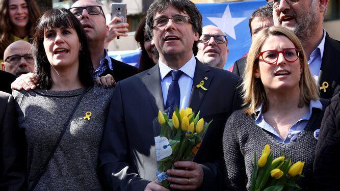 Puigdemont, en Berlín, en un acto independentista.