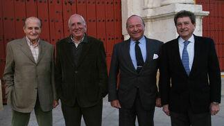 Con Lupi, Álvaro Domecq Romero y su hermano Rafael (Los cuatro jinetes del Apoteosis).
