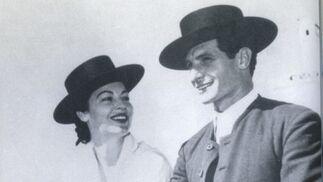 Ángel Peratal con Ava Gardner .