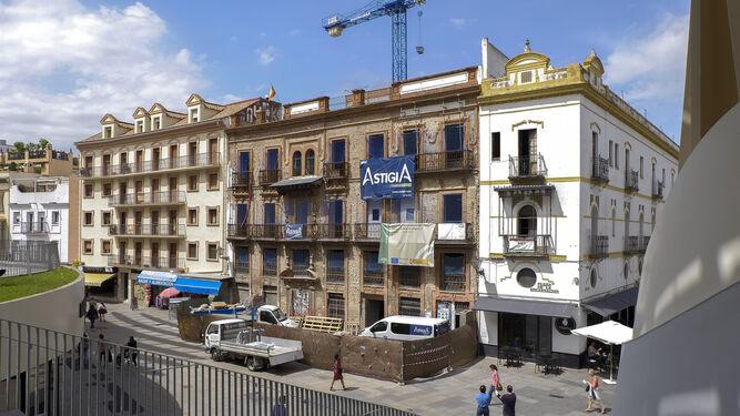 Histórico edificio de la Encarnación en obra, en el que irá un hotel.
