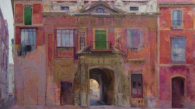 'La casa de la Moneda', óleo sobre lienzo de Joaquín Sáenz.