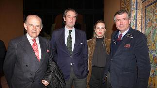 José Bohórquez, Luis López de Carrizosa, Diana Domecq y Antonio de León.