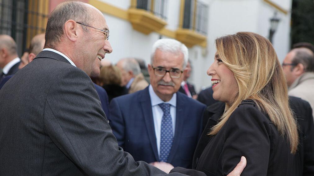 Francisco Ferraro, Manuel Jiménez Barrios y Susana Díaz.
