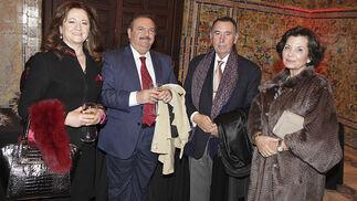 Celia Lechuga, José Ortega, Antonio Gallego, presidente de Grupo Ybarra, y María José García.