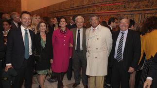 Ricardo Astorga, María Victoria García Añoveros, Encarnación Molino, Francisco Baena Bocanegra, Pedro Álvarez y Rafael Salgueiro.