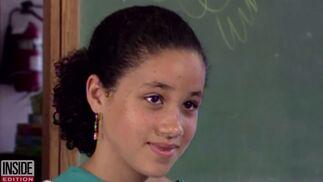 La prometida de Enrique, en una foto de su adolescencia.