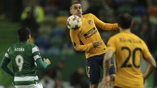 El Sporting CP-Atlético Madrid, en imágenes