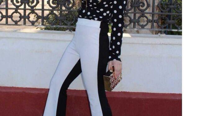 Pantalón bicolor de Mariquita Trasquilá.