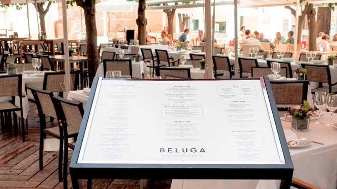 Terraza de Beluga, en Málaga.