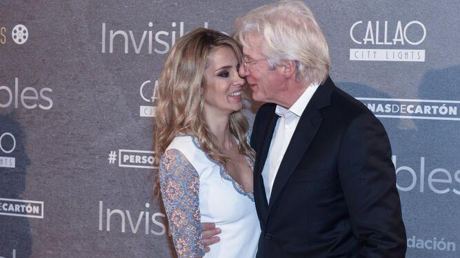La pareja, en el estreno en España de una de las películas del actor.