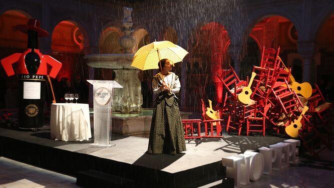 La presentación de Tío Pepe en la Casa de Pilatos contó con una cuidada puesta en escena.