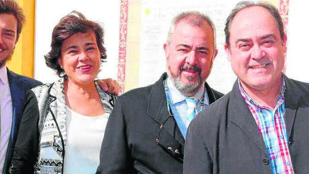 Bienvenida, Luis, Matilde, Luis, Eduardo y Mª de los Ángeles Porcuna, aficionados de Osuna.