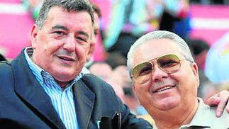 El empresario taurino José María Barrero y Pepe Clérigo.