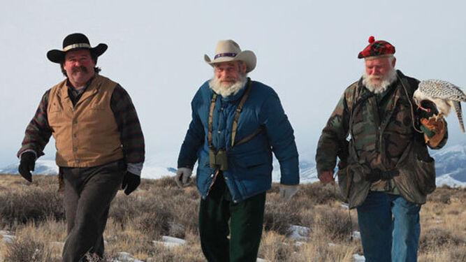 Tres protagonistas de la supervivencia extrema de 'Norte salvaje', en lo más remoto de Alaska.