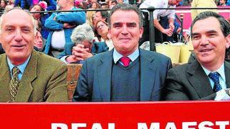 Pedro Ceballos, Fernado Jaraquemada y Vicente Linares.