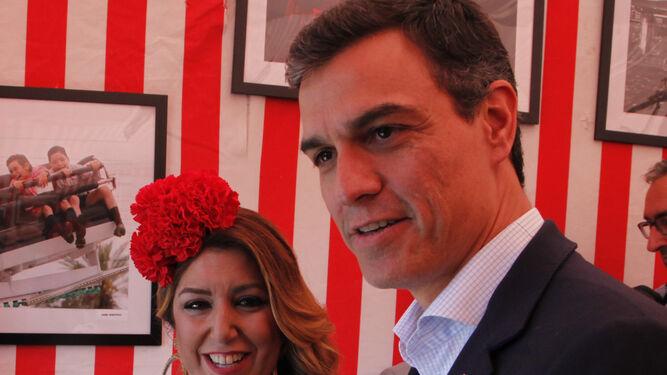 Susana Díaz y Pedro Sánchez.