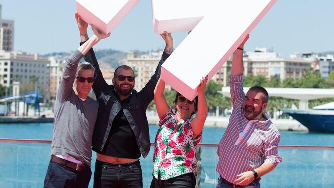 El equipo de la película, en el Festival de Málaga.