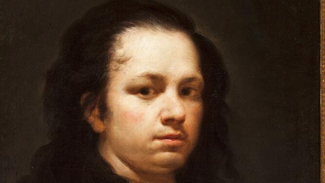 'Autorretrato' de Francisco de Goya, pintado entre 1775 y 1780, con el que arranca la muestra.