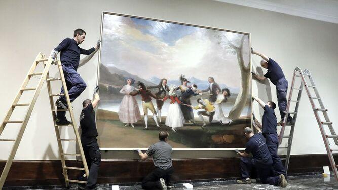 'La gallina ciega', cartón de tapiz pintado por Goya en 1788, a su llegada a Bilbao.