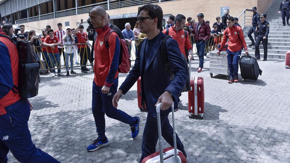 Las imágenes de la llegada del Sevilla