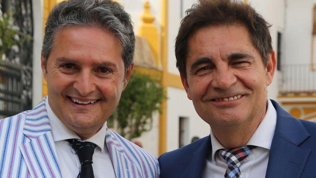 "El torero Rafael Jiménez ""Chiquilín de Córdoba"" y el periodista Rafael Cremades"