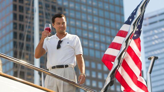 Leonardo DiCaprio, actor fetiche del cineasta en los últimos tiempos, en 'El lobo de Wall Street' (2013).