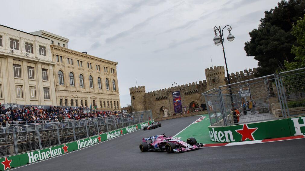 El GP de Azerbaiyán, en imágenes