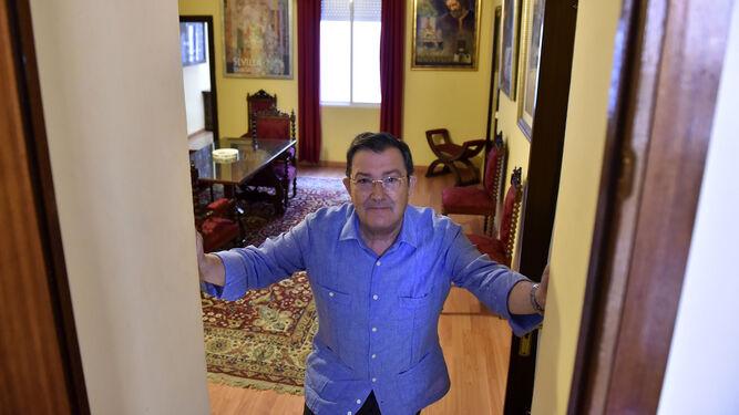 Joaquín Sainz de la Maza, en la sede del Consejo General de Hermandades y Cofradías, en una imagen de hace dos años.