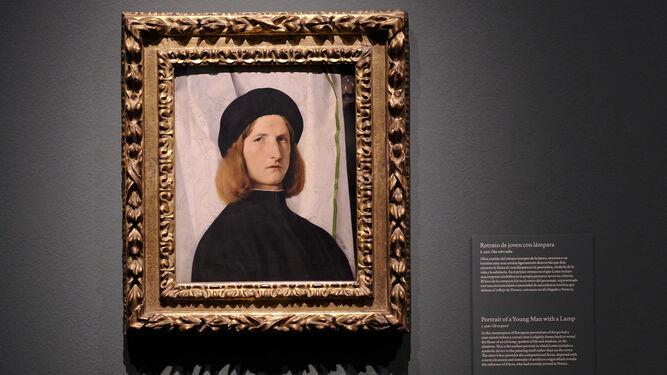 'Retrato de joven con lámpara', h. 1506, obra de juventud de Lotto