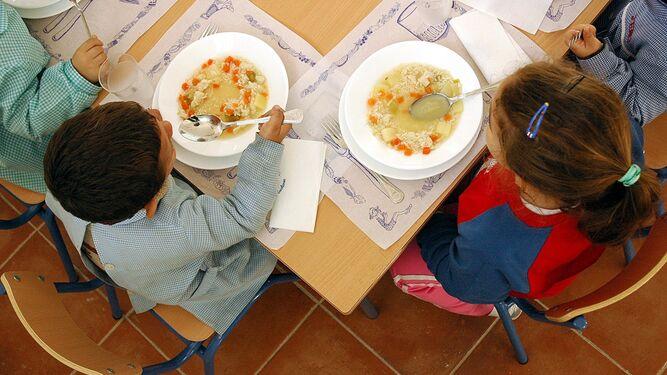 El comedor escolar se amplía a siete colegios