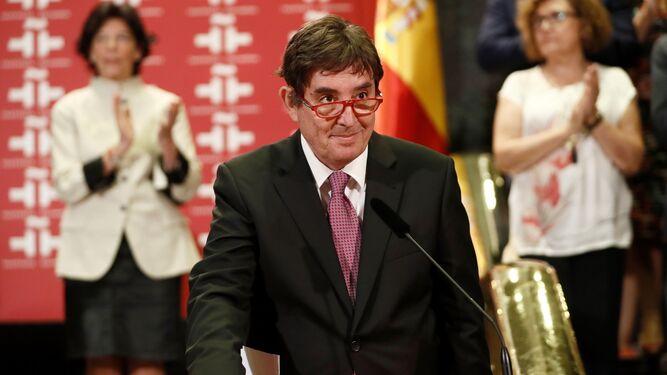 Luis García Montero, el pasado 1 de agosto, durante la toma de posesión de su cargo de director del Instituto Cervantes.