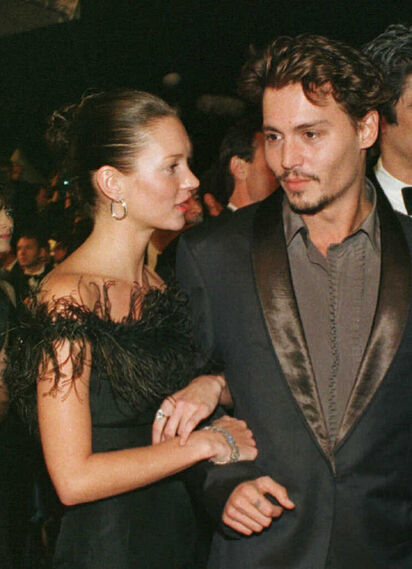 Kate Moss y Johnny Depp.