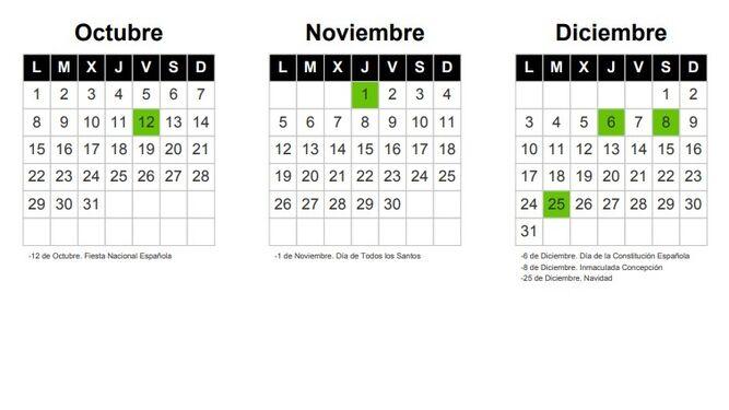 Calendario Noviembre 2019.Calendario Laboral Sevilla 2018 2019 Estos Son Los Puentes Que