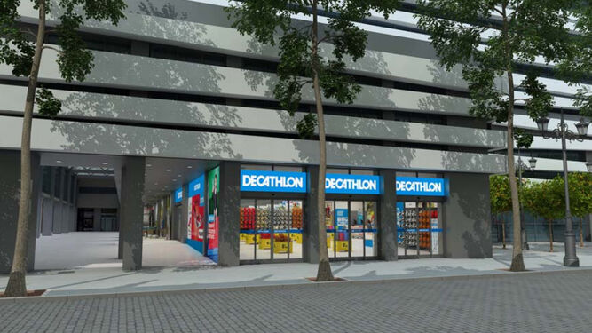 b301d1732 Recreación virtual del futuro negocio de Decathlon en el Edificio Villasís  ...