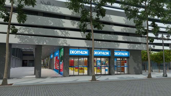 0fac95d5b Recreación virtual del futuro negocio de Decathlon en el Edificio Villasís  ...