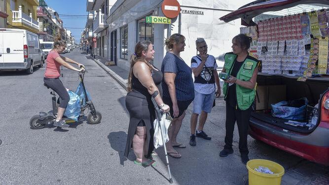 Venta de cupones de la ONCE en Palmete.