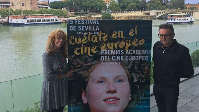 Isabel Ojeda y José Luis Cienfuegos, durante la presentación.