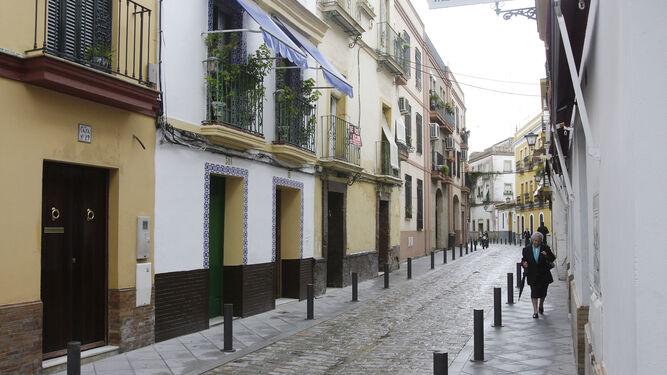 Una imagen de archivo de la calle Alfarería.