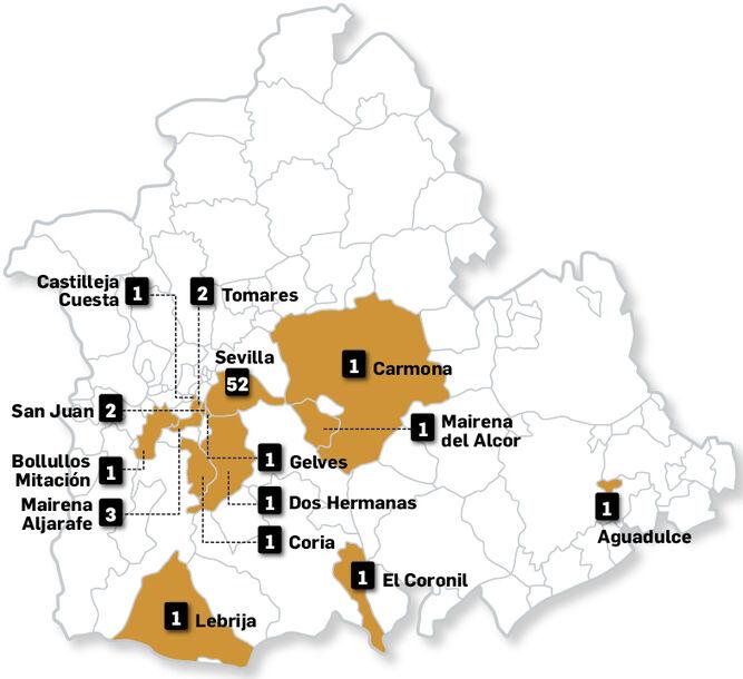 Dónde se pueden recargar los vehículos eléctricos en la provincia. FUENTE: electromaps.com