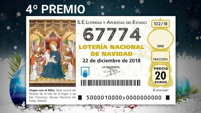 Premios del Sorteo de la Lotería de Navidad Décimos del 67774 ...