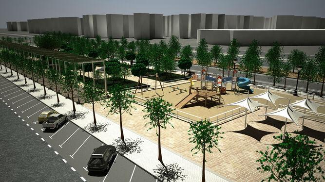 Así quedará la zona de Kansas City en la que se construye el depósito tras su reurbanización.